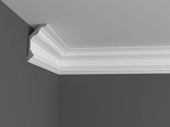 Crafted plaster molding.
