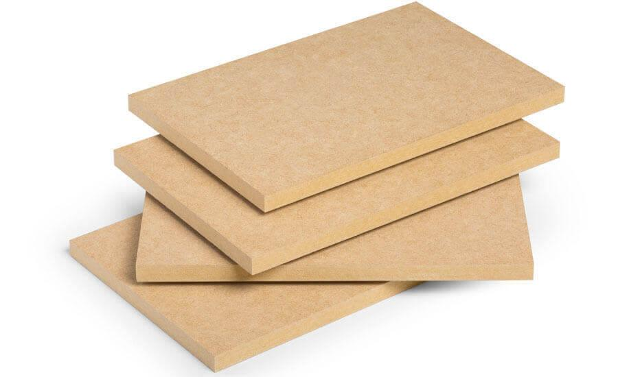 Four MDF type boards.