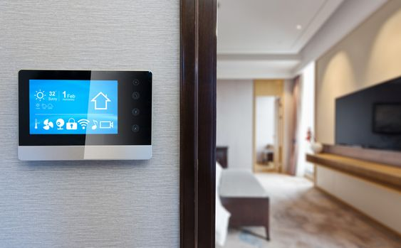 Home automation control panel.