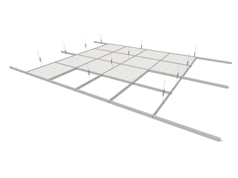 Lining illustration made in drywall system.