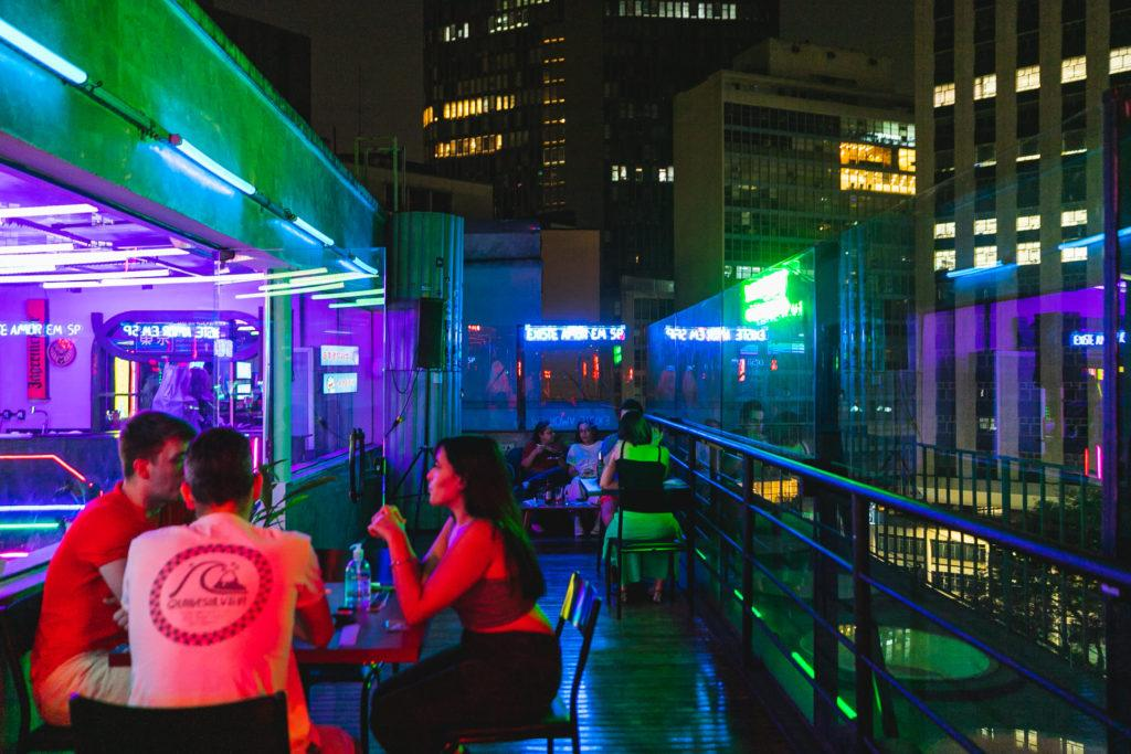 Rooftop of the club Tokyo in São Paulo. The terrace at the top of the building is famous for all the fun it offers to São Paulo residents.
